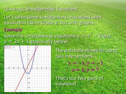 7 where s the vertex quadratic simultaneous equations let s solve