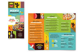 To Go Menu Templates Mexican Food Cantina Take Out Brochure Template Design