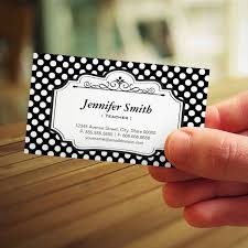 Teacher Black Polka Dots Business Card Templates