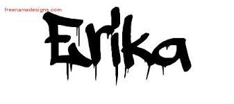 graffiti name tattoo designs erika free