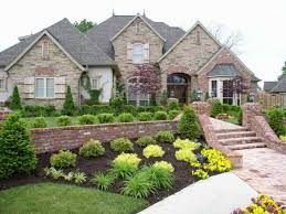 Impressive Ideas Landscaping For Front Of House Terrific House
