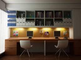 chic wall mounted office storage