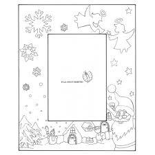 Disegno Di Cornice Di Natale Verticale Da Colorare Per Bambini