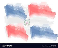 Dominican Flag Design Watercolor Flag Of Dominican Republic
