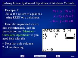 solving linear systems of equations calculator methods