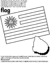 Uruguay Flag Coloring Page With Uruguay Coloring Page Crayola Com 4