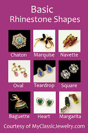 Vintage Rhinestones Shapes And Types My Classic Jewelry