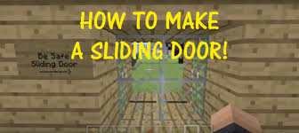 minecraft playstation and xbox how to make a sliding glass door