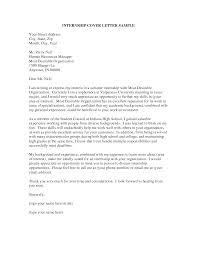 Cover Letter Design Great Sample Cover Letter For Hr Internship