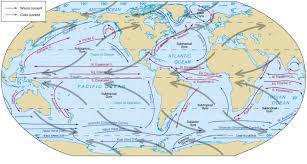 ocean current maps blue project within map of world with oceans