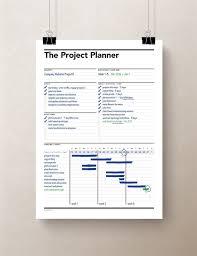 Paper Gantt Chart Project Planner Gantt Chart Productivity Planner Work