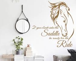 inspiring quote with stylized horse wall decal on horse wall art decal with horse wall decals vinyl wall art stickers