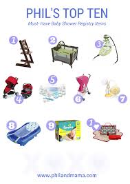 Top Ten Baby Shower Registry Must Have Items For The Modern And