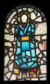 anglo saxon stained glass at st pauls church in jarrow this is the first recorded use of stained glass in britain