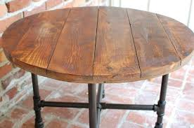 round coffee table wood and glass round coffee table industrial wood table 30 inch x 20