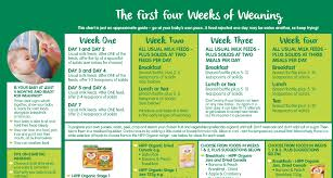 Weaning Chart Time To Wean The Baby Follow This Guide