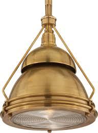 93013_image 2_visual comfort garey small industrial light brass pendant lighting