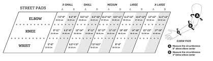 Protec Size Chart Protec Pads Size Chart Tactics