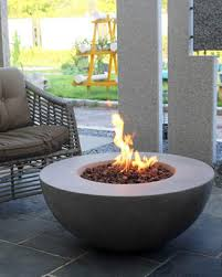 at neiman marcus elementi lunar bowl outdoor fire pit table with natural gas assembly