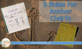 5 W S Anchor Chart 5 Rules For Anchor Charts The W I S E Owl