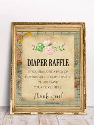 raffle sign world map baby shower printable diaper raffle baby sign diaper