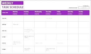 Monthly And Weekly Calendar Template Stingerworld Co