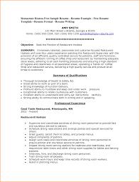 8 good restaurant resume invoice template sample resume restaurant hostess by b gjas