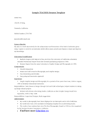 Simple Resume Format For Teacher Job Sample Resume For Experienced Lecturer In Computer Science 13