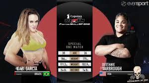 Gabi Garcia vs Destanie Yarbrough - YouTube