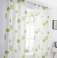 tuscany lime ready made voile curtains