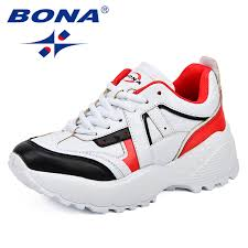 <b>BONA New Classics Style</b> Women Running Shoes Synthetic Mixed ...