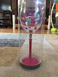 dancing queen wine glass
