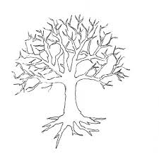 Small Picture Tree without leaves coloring page to print and download for kids