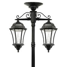 Victorian Solar Lamp Series Double Downward Hanging Lamp Post Gs 94c D