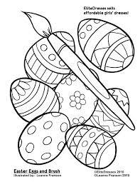 Easter Coloring Sheet Fashionadvisorinfo