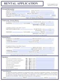 rent application form doc rental application template 1 selling the house pinterest real