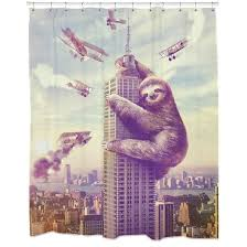 badass shower curtains. Slothzila Kids Bathroom Shower Curtain Badass Curtains Y