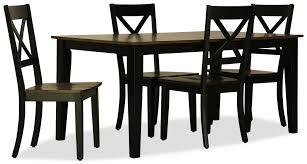 Sterling 5pc Rectangle Dining Set Black
