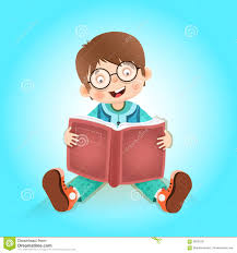 happy kid reading book
