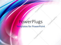 Powerpoint Template Abstract Shiny Multi Color Curves With