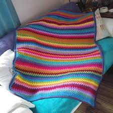 Crochet Stripe Blanket Pattern