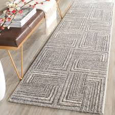 safavieh porcello light grey dark grey 2 ft x 7 ft runner rug