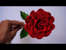 Rose Paper Flower Making Videos Matching Super Easy Way To Make Purple Rose Paper