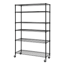 Adjustable Width Shelving Sandusky Lee Mws481874 B 6 Tier Wire Shelving Unit With 3 Rubber