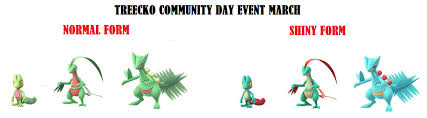 Pokemon Go March Community Day Event Details Treecko 100