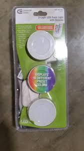 3 Light Led Puck Light Kit Upc 847658001177 Commercial Electric Under Cabinet