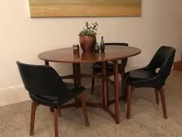 mid century teak vine parker dining table