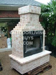 diy outdoor fireplace kits uk classic brick gas wood gel fuel patio builders kit outside nz