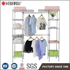 china 14 deep heavy duty steel wire expandable closet organizer bedroom space saving garment rack china space saving garment rack space saving clothes