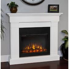 real flame slim line crawford white electric fireplace hover zoom freestanding log effect fires vent free